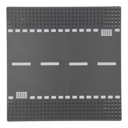 25×25 cm-es utcai alaplap építőjátékokhoz - egyenes