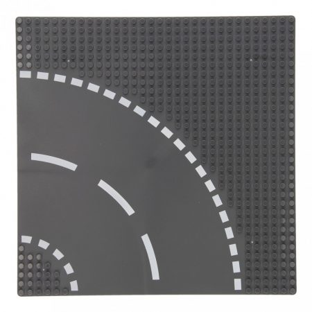 25×25 cm-es utcai alaplap építőjátékokhoz - ívelt