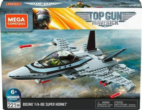 Mega Construx - Top Gun Maverick F/A-18E Super Hornet vadászrepülő építőjáték készlet