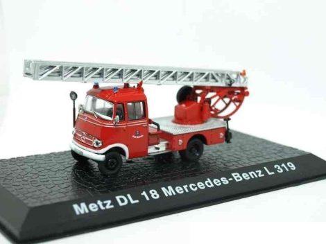 Die Cast - Metz DL 18 Mercedes-Benz L319 tűzoltó modell