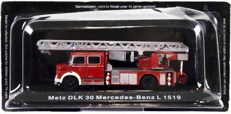 Die Cast - Metz DLK30 Mercedes-Benz L 1519 tűzoltó modell