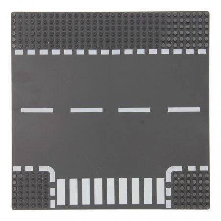25×25 cm-es utcai alaplap építőjátékokhoz - T-kereszteződés
