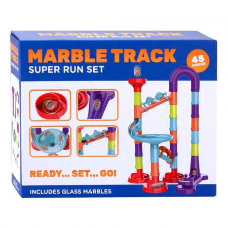 Marble Track - 45 darabos műanyag golyópálya