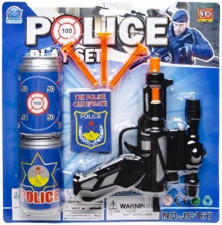 Rendőr szett távcsöves pisztollyal
