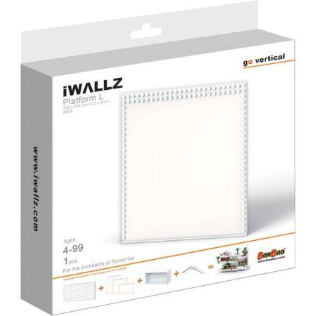 iWallz építőjáték tartó készlet, kiegészítő alaplap modul 21,8x21,5 cm, fehér
