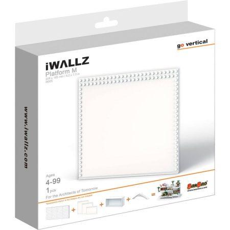 iWallz építőjáték tartó készlet, kiegészítő alaplap modul 21x18,5 cm, fehér