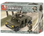 Sluban Army – Katonai páncélozott autó építőjáték készlet