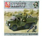 Sluban Army – Csapatszállító teherautó építőjáték készlet 4 figurával