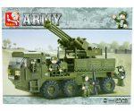 Sluban Army – Teherautó légvédelmi üteggel építőjáték készlet