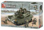 Sluban Army – Merkava nagy tank építőjáték készlet 5 fős legénységgel
