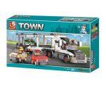 Sluban Town – Autószállító kamion építőjáték készlet
