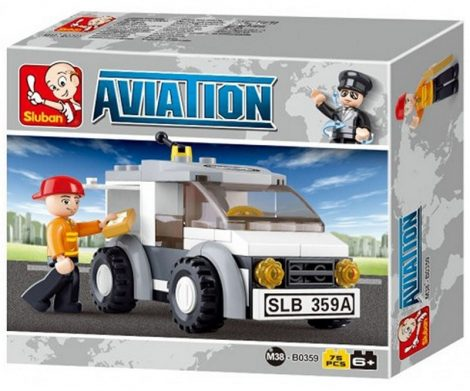Sluban Aviation – Kézbesítő kocsi építőjáték készlet