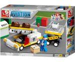 Sluban Aviation – Repülőtéri csomagberakodó építőjáték készlet
