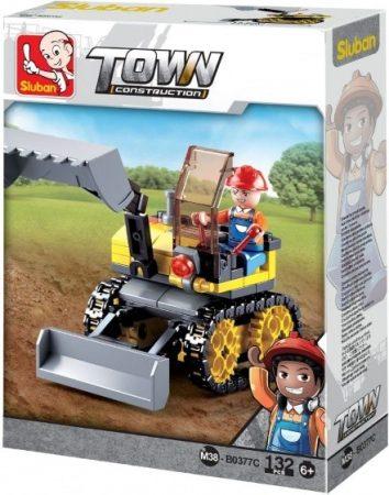 Sluban Town - Kis lánctalpas munkagép építőjáték készlet