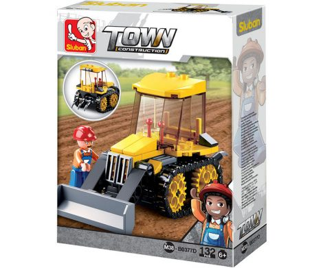 Sluban Town - Kis lánctalpas traktor építőjáték készlet