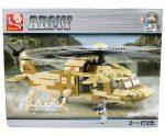 Sluban Army – Black Hawk helikopter építőjáték készlet