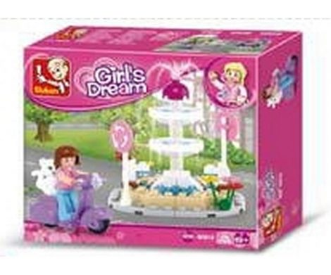 Sluban Girl's Dream - Szökőkút építőjáték készlet