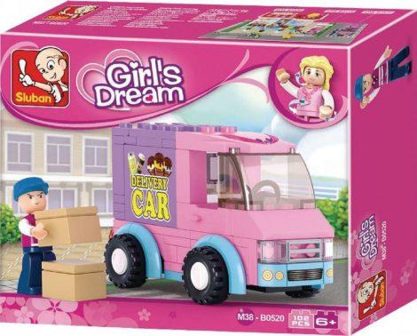 Sluban Girl's Dream – Csomagszállító futár építőjáték készlet