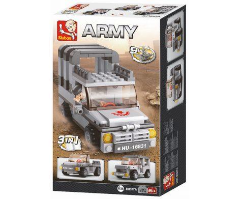 Sluban Army – 3 az 1-ben katonai teherautó építőjáték készlet
