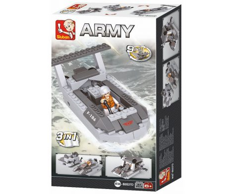 Sluban Army – 3 az 1-ben légpárnás csónak építőjáték készlet