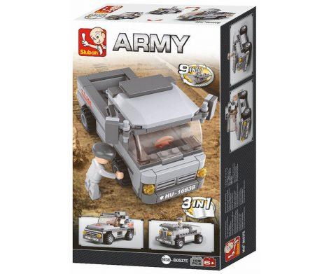 Sluban Army – 3 az 1-ben katonai szállító jármű építőjáték készlet