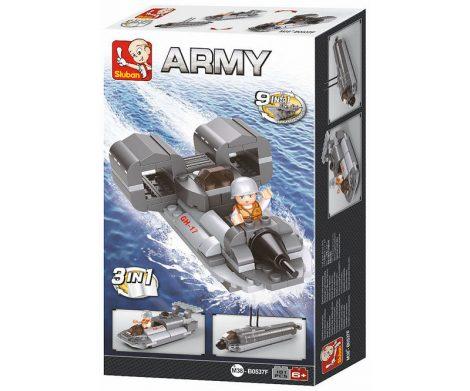 Sluban Army – 3 az 1-ben katonai sugárhajtású csónak építőjáték készlet