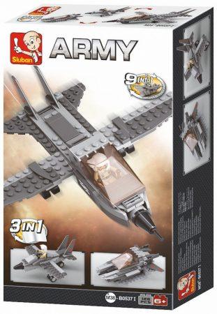 Sluban Army – 3 az 1-ben vadászrepülőgép építőjáték készlet