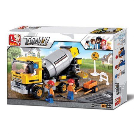 Sluban Town - Betonkeverő teherautó építőjáték készlet