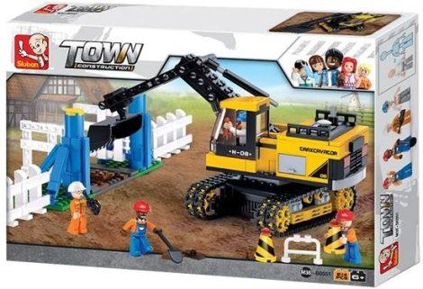 Sluban Town - Lánctalpas markológép építőjáték készlet