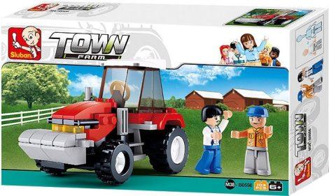 Sluban Town - Farm traktor építőjáték készlet