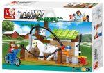 Sluban Town - Farm lovasiskola építőjáték készlet