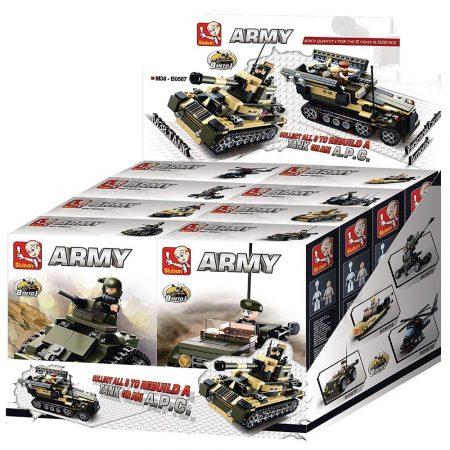 Sluban Army - 8 into 1 tank és APC építőjáték készlet