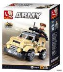 Sluban Army – 8 into 1 páncélozott autó építőjáték készlet
