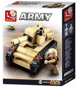 Sluban Army – 8 into 1 tank építőjáték készlet