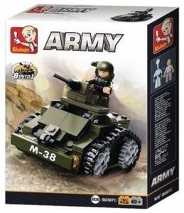 Sluban Army – 8 into 1 páncélozott jármű építőjáték készlet