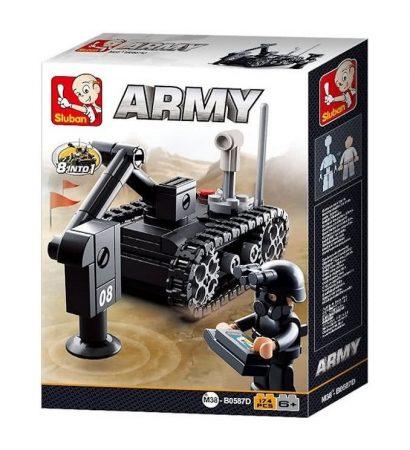 Sluban Army – 8 into 1 aknakereső robot építőjáték készlet