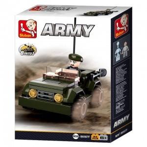 Sluban Army – 8 into 1 katonai dzsip építőjáték készlet