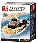 Sluban Army – 8 into 1 katonai motorcsónak építőjáték készlet