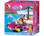 Sluban Girl's Dream – Kis légpárnás csónak építőjáték készlet delfinnel