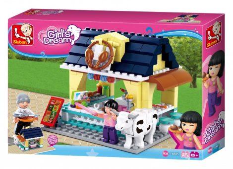 Sluban Girl's Dream - Utcai pecsenyesütő építőjáték készlet