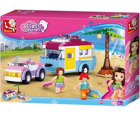 Sluban Girl's Dream – Lakókocsis piknik építőjáték készlet