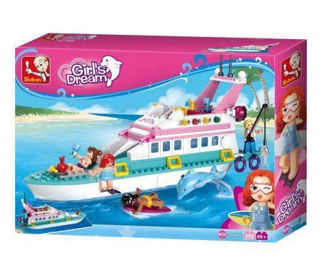 Sluban Girl's Dream -Luxus yacht építőjáték készlet