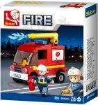 Sluban Fire – Kis tűzoltóautó építőjáték készlet