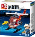 Sluban Fire – Kis tűzoltó helikopter építőjáték készlet