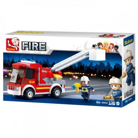 Sluban Fire – Kosaras tűzoltóautó építőjáték készlet