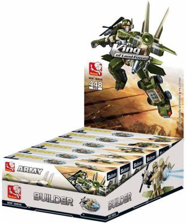 Sluban Builder Army - 6 into 1 robotharcos építőjáték készlet