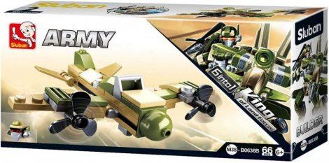 Sluban Builder Army 6 into 1 - Légcsavaros repülőgép építőjáték készlet