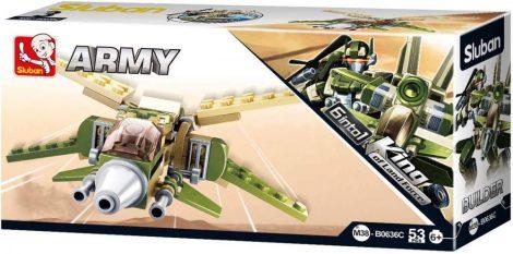 Sluban Builder Army 6 into 1 - X-szárnyú vadászgép építőjáték készlet