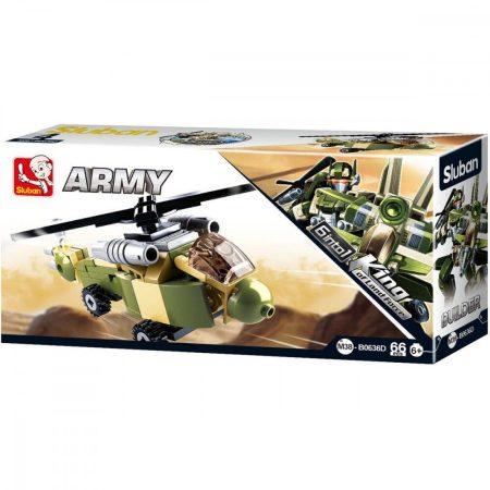 Sluban Builder Army 6 into 1 - Helikopter építőjáték készlet