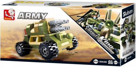 Sluban Builder Army 6 into 1 - Tüzérség építőjáték készlet